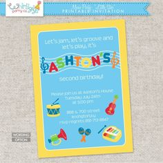 Music party invitation rockin birthday party pinterest music music party invitation rockin birthday party pinterest music party party invitations and music themed parties stopboris Images