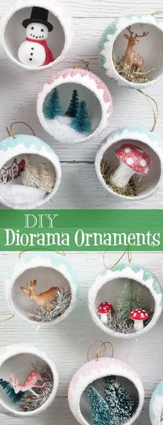 Make Retro Diorama Ornaments filled with Miniatures - Vintage Christma – Smile Mercantile Craft Co. christmas ornaments Make Retro Diorama Ornaments filled with Miniatures - Vintage Christmas Craft Tutorial Vintage Christmas Crafts, Christmas Craft Projects, Diy Christmas Ornaments, Xmas Crafts, Homemade Christmas, Christmas Ideas, Vintage Christmas Balls, Retro Christmas Decorations, Christmas Mantles