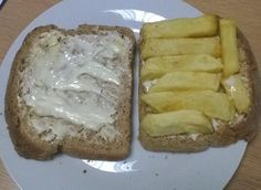 Embedded image permalink ''Lashings of butter and mayo because deep frying the chips wasn't enough. :-) @Emi Stewart Fish and Chips at Spitalfields '' - @westleyjam #chips #sarnie #sandwich #Britishfood #mayonnaise