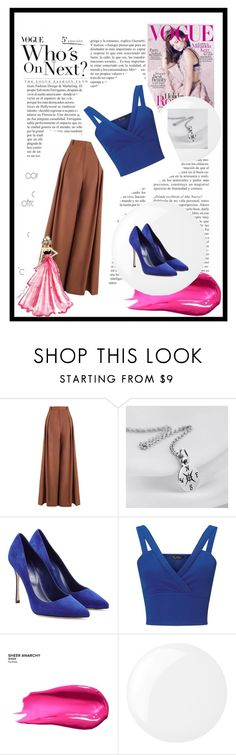 """7"" by jassemin ❤ liked on Polyvore featuring Zimmermann, Sergio Rossi, Miss Selfridge, Kerr®, Urban Decay and Essie"