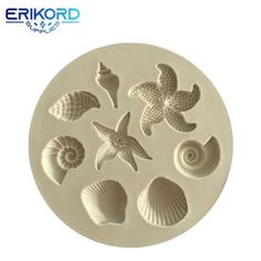 Buy Sea Creatures Conch Starfish Shell Fondant Cake Silicone Mold DIY Chocolate Resin Polymer Clay Soap Craft Mold Cupcake Topper Kitchen Liquid Cake Decoration Tools at Wish - Shopping Made Fun Silicone Chocolate Molds, Diy Silicone Molds, Resin Molds, Silicone Rubber, Fondant Tools, Cake Fondant, Cake Mold, Tool Cake, Barbie