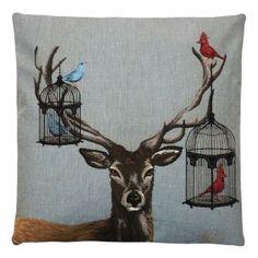 Fantasy Deer Cushion W45 x D45cm I
