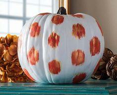 Craft Painting - Polka Dot Pumpkin for Halloween or Fall Decor