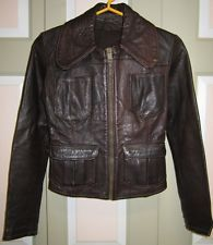 Vintage East West Musical Instruments Co Leather Jacket Motorcycle 1960s 1970 XS