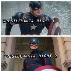 Wrestling Memes, Captain America, Wwe, Superhero, Comic, Fictional Characters, Artwork, Work Of Art, Auguste Rodin Artwork
