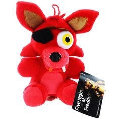 Five Nights at Freddy's Plush - Foxy - Officially Licensed FNAF! Foxy Plush, Cute Plush, Five Nights At Freddy's, Freddy Plush, Looney Tunes Bugs Bunny, Freddy Fazbear, Disney Plush, Plush Dolls, Action Figures