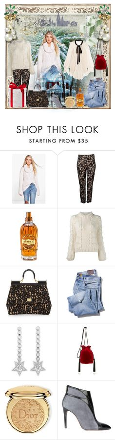 """""""baby it´s cold outside"""" by snowmoon ❤ liked on Polyvore featuring Boohoo, Witchery, L'Occitane, Ganni, Dolce&Gabbana, CZ by Kenneth Jay Lane, Hunting Season, Christian Dior, Francesca Mambrini and Chloé"""