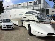 new semi truck design with aerodynamic cabin.