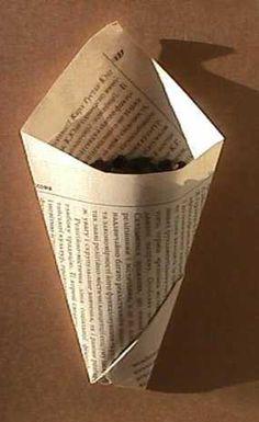 "koolyok- ""paper cones"" no glue involved just simple folding, video in description"