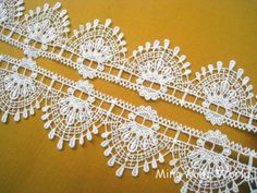 Venice Lace Trim - 2 yards White Aulic Features Lace Trim. $8.00, via Etsy.