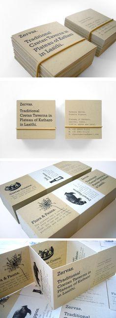 Zervas Business Card by Manos Siganos (via Creattica)