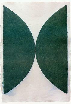Ellsworthe Kelly, Colored Paper Image II (Dark Green Curves)