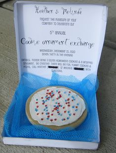 "Cookie Party Invite - have a ""make a cookie"" party to celebrate the upcoming cookie season!"