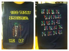 100 day of school shirt I made for Levi. - Star Wars Tshirt - Trending and Latest Star Wars Shirts - 100 day of school shirt I made for Levi. 100 Day Of School Project, 100 Days Of School, School Fun, First Day Of School, School Projects, School Stuff, 100 Day Shirt Ideas, Star Wars Classroom, 100s Day