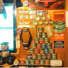 The Smokeless Chewing Tobacco PYRAMID Empty Can Tower by Dip Junkies https://www.instagram.com/dipjunkies1/ Team Cowboy Coffee Chew