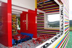 Maybe we cover a wall in legos or make a small playhouse out of legos in honor of Conner? Check out James' May's Lego House