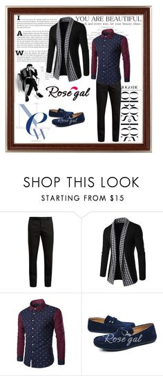 """""""Rosegal 80"""" by divi121314 ❤ liked on Polyvore featuring Yves Saint Laurent, men's fashion, menswear, cardigan, men and rosegal"""