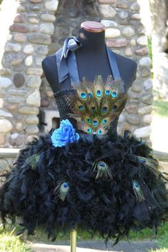 This article is not available Peacock Halloween Costume, Peacock Tutu, Robes Tutu, Banquet Dresses, Fairy Clothes, Feather Dress, Pageant Dresses, Flower Dresses, Tulle Dress