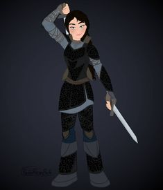 Finally came up with a design for my Zyrah's Night Fury scale armor for HTTYD Wielding her sword (already out of the sheath)… Httyd Dragons, Httyd 3, Fantasy Character Design, Character Design Inspiration, Character Ideas, Dragon Scale Armor, Disney Gender Bender, Anime Stories, Dragon Girl