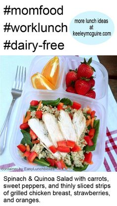 Lunch Made Easy: Quinoa Gluten Free & Allergy Friendly Ideas Healthy Lunches For Work, Healthy Food Choices, Healthy Snacks, Healthy Eating, Healthy Recipes, Salad Recipes, Lunch Snacks, Box Lunches, Lunch Box