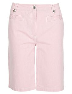 Roma Cotton Rich Striped Shorts Clothing
