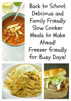 Back to School!!  Freezer Friendly Crockpot Meals with Shopping List