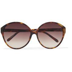 54c624b3cc5 Linda Farrow tortoiseshell sunglasses. Acetate. Brown lenses