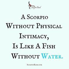 Scorpio without this is like a fish without water. Scorpio Meme, Astrology Scorpio, Scorpio Zodiac Facts, Scorpio Traits, Zodiac Signs Scorpio, Funny Scorpio Quotes, Scorpio Ascendant, Zodiac Quotes, Pisces
