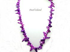 36 Inch Vogue 1-Row Purple Blister Pearl Necklace: www.pearlisland.co.uk