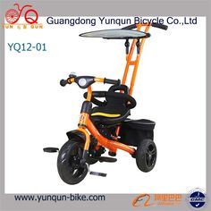 Source Baby Tricycle/quality baby stroller/baby bicycle with pedals, rear bags, sun-fender, bell ring Baby Bicycle, Kids Bike, Tricycle, Outdoor Power Equipment, Baby Strollers, Bags, Sun, Children, Products