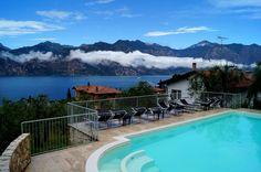 Ferienwohnung in Malcesine mit #Pool und freiem Blick über den #Gardasee