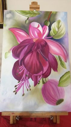 Acrylic Painting Inspiration, Acrylic Painting Flowers, Fabric Painting, Diy Painting, Watercolor Flowers, Watercolor Paintings, Flower Artwork, Learn To Paint, Botanical Art