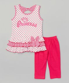 Look what I found on #zulily! Fuchsia 'Princess' Top & Leggings - Toddler & Girls by Littoe Potatoes #zulilyfinds
