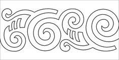 Image result for maori art Longarm Quilting, Free Motion Quilting, Hand Quilting, Machine Quilting, Maori Patterns, Quilt Patterns, Polynesian Art, Maori Designs, Nz Art