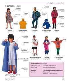 Learning Italian - Children's Clothing