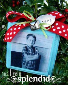 mod podge photo christmas list ornament 3