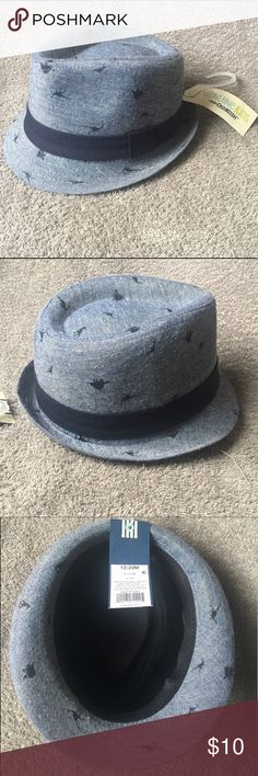 Genuine Kids Osh Kosh Dinosaur Fedora Hat NWT These are limited print dinosaur pattern children's fedoras, by Genuine Kids from Osh Kosh. These are both new with tags, from a smoke free home. I have two sizes available; Baby (12-24mo) and Boys (2-5T) Osh Kosh Accessories Hats