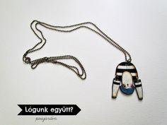 Handmade shrink plastic necklace.  www.facebook.com/poisjardin
