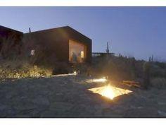 tucson, garden fireplace