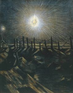 Christopher Richard Wynne Nevinson, 'A Star Shell' exhibited 1916