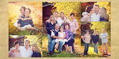 Three generations. Family pose with grandparents, children and grandchildren.