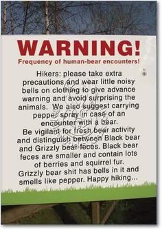 Knowing the different types of bears is important when hiking via /r/funny http://ift.tt/2p8Ll6j