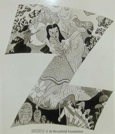 "Al Hirschfeld promotional art for ""The Wizard of Oz"""
