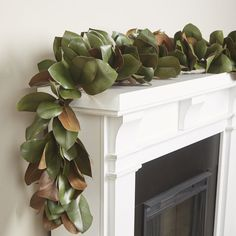 Gracie Oaks Faux Magnolia Leaf Garland Gracie Oaks Deck the halls, rails, and mantle with this merry trimming, perfect for an instant seasonal spruce-up. Outdoor Garland, Boxwood Garland, Pre Lit Garland, Fall Leaf Garland, Pine Garland, Magnolia Leaf Garland, Magnolia Leaves, Artificial Garland, Christmas Home