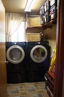 Laundry room / mud room organization