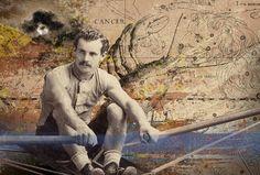 LO ZODIACO CANCRO elaborazione su foto vintage--2016