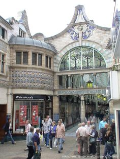 """Город Норидж. Галлерея """"Королевские Аркады"""" Art Nouveau, England"""