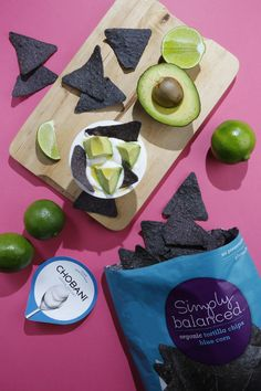 Try Plain Chobani with ripe avocados, a squeeze of lime, and Simply Balanced™ Blue Corn Tortilla Chips for an easy, delicious snack!