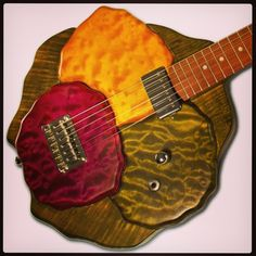 Custom Cauliflower Guitar - Designed for Colorful Harvest produce company. Follow: @Musical Harvest  www.musicalharvest.com Custom guitar price quotes start at $1000. Email guitars@musicalharvest.com for your quote today.