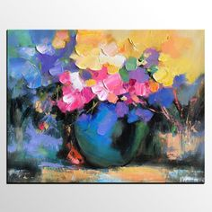 Abstract Art Painting, Flower in Vase Painting, Original Painting, Large Wall Art, Canvas Painting Hand Painting Art, Large Painting, Texture Painting, Painting Canvas, Modern Canvas Art, Large Canvas Wall Art, Large Art, Modern Art, Contemporary Art